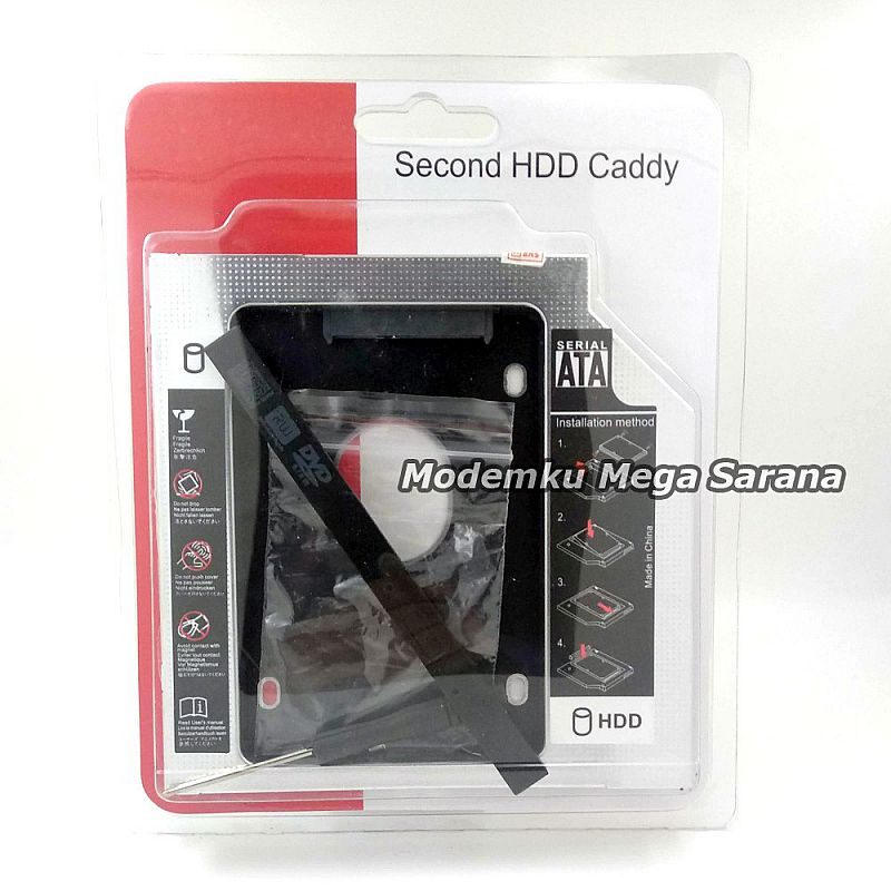 SSD HDD Caddy Slim 9.5mm SATA DVD Slot Hardisk Drive