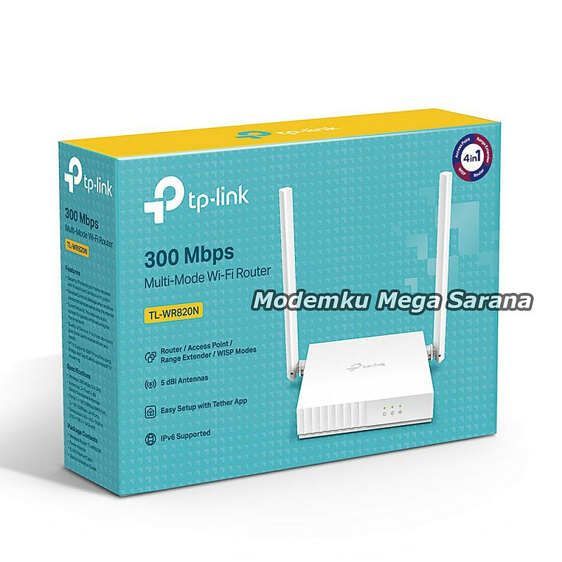 TP-Link TL-WR820N Router 300Mbps Multi Mode Wifi Router Range Extender