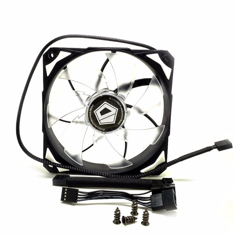 ID-COOLING PL 12025 Case Fans LED 12cm | Fan Casing | Kipas Casing With De-Vibration Rubber